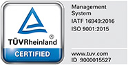 TUV certificate IATF-16949 and ISO 9001